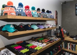 Some of SkateHut's hats and accessories